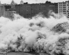 Public Housing being destroyed by implosion.