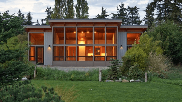 TimberCab house by FabCab in Seattle WA. ~$300-$350 SF.