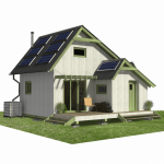 The cost of a Tiny House begins with plans. The Eco Cabin Plans are sold by Pinup Houses, $490.