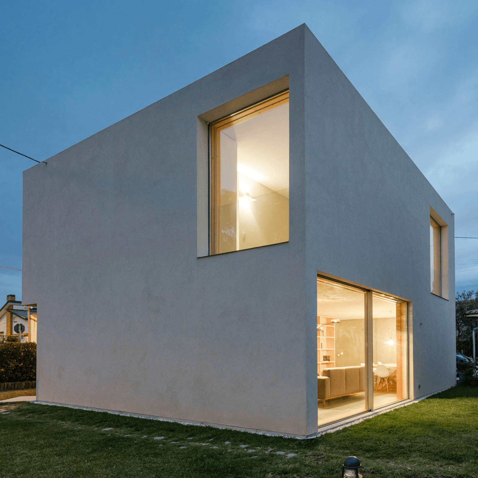 A demonstration house from an architectural program at